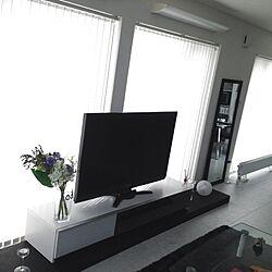部屋全体/白黒/テレビまわり/テレビ周辺/テレビボード...などのインテリア実例 - 2013-03-24 16:46:44