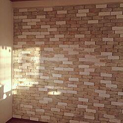 壁/天井/DIY/軽量レンガのインテリア実例 - 2015-12-22 16:39:45