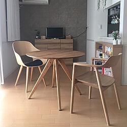 ナチュラルインテリア/オーク/Roundish chair/HIROSHIMAアームチェア/マルニ木工...などのインテリア実例 - 2020-05-17 16:01:16