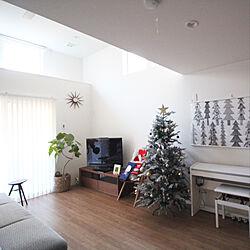 リビング/ベツレヘムの星/クリスマスツリー/クリスマスツリー180cm/高天井...などのインテリア実例 - 2017-12-02 16:47:30