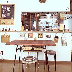 部屋全体/昭和レトロ/鉄脚のテーブル/鉄脚の椅子/ナチュラル系...などのインテリア実例 - 2014-01-12 10:15:33