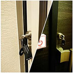 玄関/入り口/商品タグ/ドアのぶ/鍵/シンプル小物のインテリア実例 - 2017-11-30 17:44:55