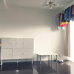 机/しろが好き/リビング収納/テーブル/部屋干し...などのインテリア実例 - 2018-04-15 14:15:55