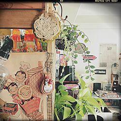 壁/天井/手作り/セリア/フェイクグリーン/観葉植物...などのインテリア実例 - 2016-05-12 07:57:36