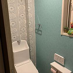 ティファニーブルー/タイミ 壁紙/バス/トイレのインテリア実例 - 2020-04-12 22:43:02
