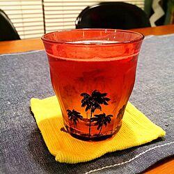 キッチン/ロンハーマン限定グラス/HAWAIIを感じたい/夏に向けて/授乳中につき残念ながらノンアルのインテリア実例 - 2014-05-13 19:15:19