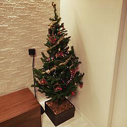 リビング/クリスマスツリー/ハピアフロア/白床のインテリア実例 - 2017-12-21 22:51:05