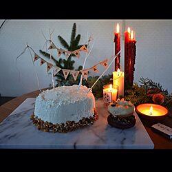 机/クリスマス/クリスマス&バースデーケーキ/クリスマステーブルコーディネート♡/KINFOLK...などのインテリア実例 - 2013-12-26 19:54:14
