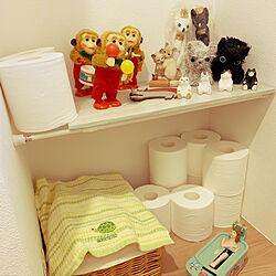 トイレで癒し/お風呂の貯金箱/ねこ/おもちゃ/雑貨...などのインテリア実例 - 2019-09-14 08:59:33