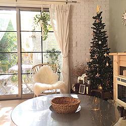 テーブルセット/ウッドパネル/山善/ウッドデッキ/クリスマス...などのインテリア実例 - 2019-11-13 18:36:43