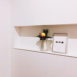 玄関/入り口/花のある生活/花瓶/H&M HOME/ニッチ...などのインテリア実例 - 2019-01-03 15:35:30