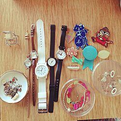 アクセサリー/腕時計置き/小皿/アクセサリー収納のインテリア実例 - 2015-10-03 12:56:33