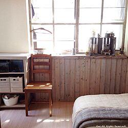 ベッド周り/和室を洋室に /手作り板壁/手作り窓枠/DIY...などのインテリア実例 - 2015-05-13 14:09:58
