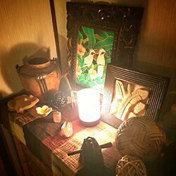 玄関/入り口/アジアン/アジアン雑貨/バリ風なお部屋/鉱物...などのインテリア実例 - 2014-06-28 06:45:47