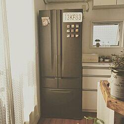 キッチン/冷蔵庫/黒板塗料/冷蔵庫リメイク/メンテナンス...などのインテリア実例 - 2015-10-24 11:31:33