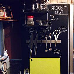 キッチン/IKEA/包丁収納/マグネット/見せる収納...などのインテリア実例 - 2014-11-17 10:28:46