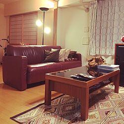 リビング/ソファ/キリムラグ/夜の部のインテリア実例 - 2014-05-06 21:14:04