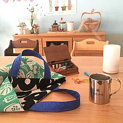 机/トートバッグ/ハンドメイド/裁縫箱/スノーピーク...などのインテリア実例 - 2019-01-29 14:09:42