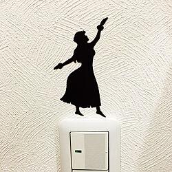壁/天井/シール貼っただけ。/ハワイアンインテリア/雑貨のインテリア実例 - 2017-08-07 21:53:22