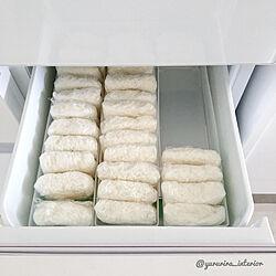 冷凍ごはん/冷凍庫収納/冷蔵庫収納/キッチンのインテリア実例 - 2019-04-11 14:31:20