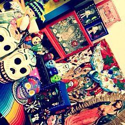 棚/mexico/グァダルーペ/suger skull/シュガースカル...などのインテリア実例 - 2013-09-02 09:28:28