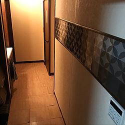 廊下/廊下の壁/DIY/ダイソー/リノベーション...などのインテリア実例 - 2021-05-06 04:20:46