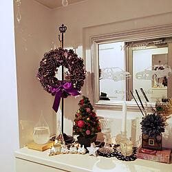 玄関/入り口/クリスマス/クリスマスディスプレイ/インテリア大好き/クリスマスツリー...などのインテリア実例 - 2020-11-04 16:39:58