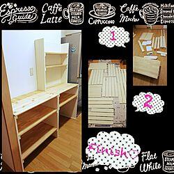 キッチン/SPF1×4/BRIWAX/バターミルクペイント♡/DIY食器棚...などのインテリア実例 - 2015-08-17 21:23:30