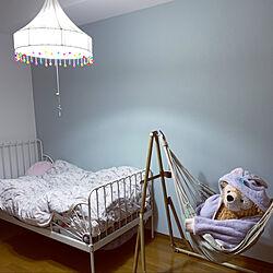 アクセントウォール/ハンモックのある暮らし/ダッフィー♡/子供部屋女の子/IKEAベッド...などのインテリア実例 - 2021-01-26 00:11:35