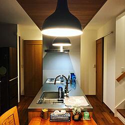 キッチン/マルホン 無垢材の床/インドネシアチーク/ウッドワンのキッチン/無印良品...などのインテリア実例 - 2019-01-23 23:42:35