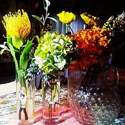 机/ごちゃごちゃ/何か色々…/造花/花瓶...などのインテリア実例 - 2016-09-13 17:35:44