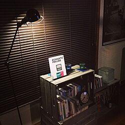 棚/照明/ジェルデ/木箱/メンズ部屋...などのインテリア実例 - 2013-10-31 20:20:25