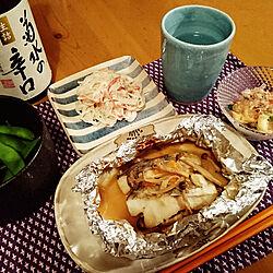 キッチン/ストライプ/お酒大好き♡/日本酒/お料理...などのインテリア実例 - 2018-03-18 22:26:01