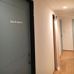 ふすま扉リメイク/廊下/DIY/ナチュラル/塗装...などのインテリア実例 - 2017-08-12 01:10:56