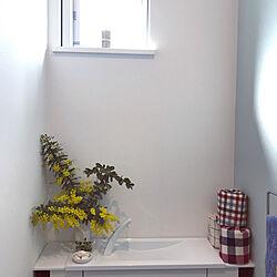 ミモザ/花のある暮らし/フラワーベース/花瓶/バス/トイレのインテリア実例 - 2021-02-25 01:02:32
