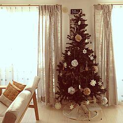 壁/天井/クリスマスツリー☆/ハンドメイドのインテリア実例 - 2013-11-29 08:13:10
