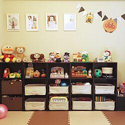 棚/無印良品/カラーボックス/アンパンマンだらけ/おもちゃ部屋...などのインテリア実例 - 2016-08-06 10:01:34