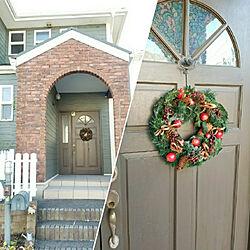 玄関/入り口/玄関先/玄関/玄関ドア/クリスマス...などのインテリア実例 - 2017-12-06 18:04:20