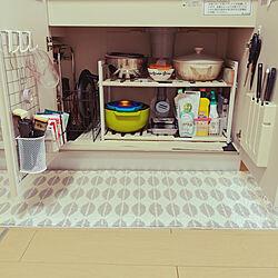 キッチン/大東建託 1LDK/一人暮らし/シンク下収納のインテリア実例 - 2020-05-05 13:14:01
