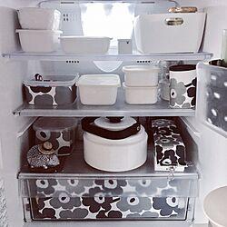 キッチン/グレー好き/ハリネズミの置き物/収納/冷蔵庫...などのインテリア実例 - 2017-06-18 10:03:07