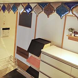 キッチン/無印良品 壁に付けられる家具/コラベルタイル/極小キッチン/ランタンタイル...などのインテリア実例 - 2019-02-14 11:04:43