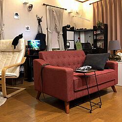 リビング/コーヒーテーブル/赤いソファ/ソファ/IKEA...などのインテリア実例 - 2018-04-08 19:57:07