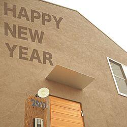 玄関/入り口/切妻屋根/チョコレート色/外観/木製ドア...などのインテリア実例 - 2017-01-01 22:47:13