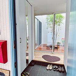 シンボルツリー/シマトネリコ/中庭のある家/玄関/入り口のインテリア実例 - 2020-07-09 10:25:31