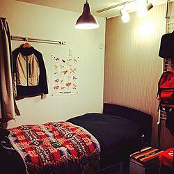 ベッド周り/アウトドア/引越し完了しました!/ペンドルトン /動物の絵の壁...などのインテリア実例 - 2014-12-05 22:55:24