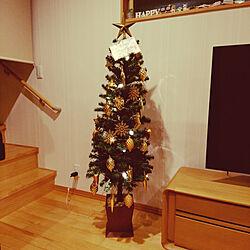 リビング/クリスマス/クリスマスツリー/IKEAのインテリア実例 - 2020-12-06 21:54:34