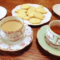 キッチン/カップ&ソーサー/おやつの時間/こどもと暮らす。/おうちカフェのインテリア実例 - 2015-10-09 15:27:15