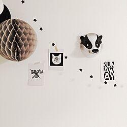 壁/天井/子供部屋/アニマルマスク/ハニカムボール/mini&muximus...などのインテリア実例 - 2014-07-28 09:13:20