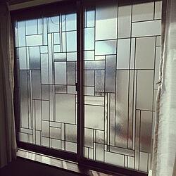 壁/天井/目隠しシート/窓/ステンドグラス風のインテリア実例 - 2019-01-15 23:10:24