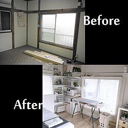 DIY/before→after/和室から洋室へ/壁/床貼り...などのインテリア実例 - 2018-09-11 00:40:19